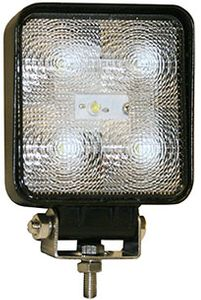 "LED Clear Square Flood Light, 4"", 1050 Lumens, 12-24 Volt , Buyers 1492117"