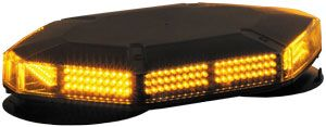LED Mini Light Bar, Amber, 25 Adjustable Flash Patterns, Buyers 8891100