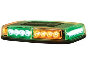 LED Mini Light Bar, 24 Amber/Green LEDs, Buyers 8891049