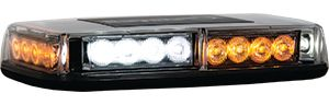 LED Mini Light Bar, Amber/Clear LED's Magnetic & Permanent Mount, Buyers 8891042