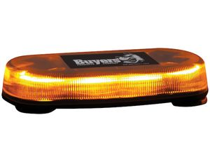 15 Inch Oval Amber LED Mini Light Bar With Magnetic Mount, Buyers 8891070