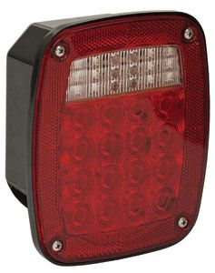 """LED Stop Turn Tail, 34 LED's Red, 5-3/4"""" Box Style, Buyers 5626734"""