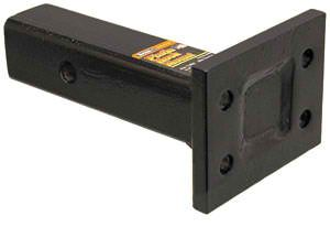 "Pintle Hook Mount 1 Position, 2"" Receiver, 4"" Plate, 8"" Shank, Buyers PM84"