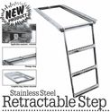 Retractable Truck Step, 3-Rung, Stainless Steel, Buyers 5233001