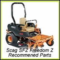 Scag SFZ FREEDOM Z - Recommended Parts