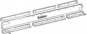 Snow Deflector, ST 78 90, replaces Meyer 12896-7, Buyers SAM 1309005