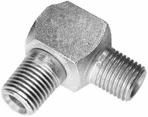 "Snow Plow Male Elbow, 1/4"" x 90 Degree, replaces Western 92278, Buyers SAM 1304240"