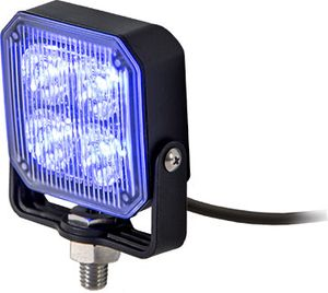 Square LED Strobe Light, Blue/Clear, Buyers 8891804