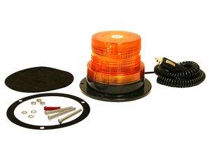 """4"""" Incandescent Beacon, 12 volts, Magnet Mount, 10' Coiled Cord, Buyers SL500A"""