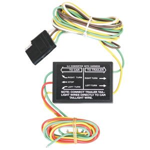 Tailight Converter, Solid State Heavy-Duty 3-2 Converter / Harness, Buyers 5423201
