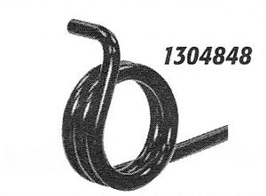 Torsion Spring, PS (RH), replaces Curtis TBP33A-2, Buyers SAM 1304848