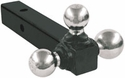 """Tri-Ball Hitch,1-7/8"""", 2"""", 2-5/16"""" Chrome, Solid Shank, Buyers 1802205"""