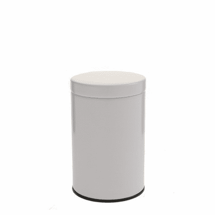 2 Different Size Gloss White Tea  <br>Canisters, 100 or 200 Grams