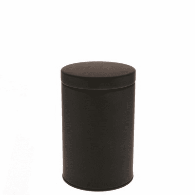 2 Different Size Matte Black Tea  <br>Canisters, 100 or 200 Grams
