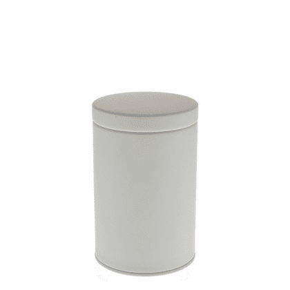 2 Different Size Matte White  <br>Tea Canisters, 100 or 200 Grams