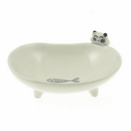 2 Different Sizes Little Kitty<br> wants Fish Mini Bowl