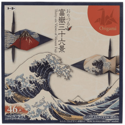 "36 Views pf Mt. Fuji Origami Paper 6""sq."