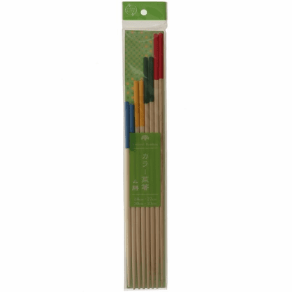 4 Bamboo Colors Cooking Chopsticks Set