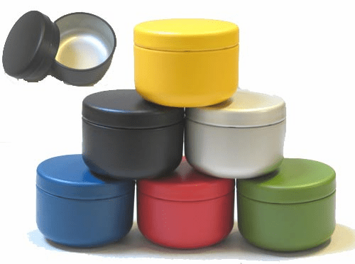 6 Different Color Tea Canisters,  Each one Holds 30 Grams