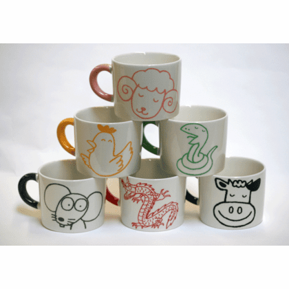 Animal Mugs, 12 oz.