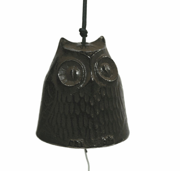 Antique Brown Color Cast Iron Owl Windchime