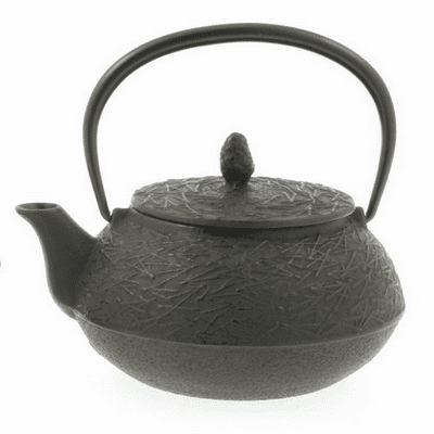 Antique Brown Color Pine Needle Cast<br> Iron Teapot by Iwachu 20 oz.