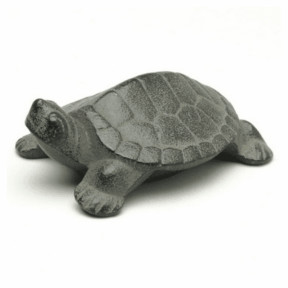 Antique Brown Turtle Cast Iron Paper Weight