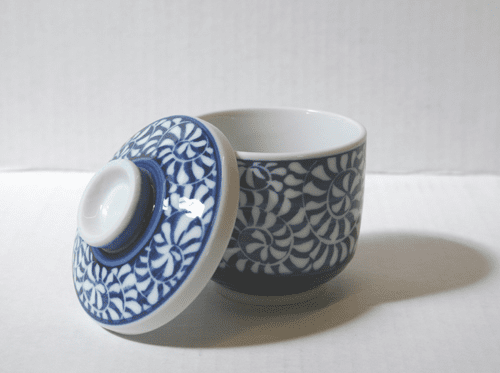 Arabesque Pattern Chawan-Mushi <br>or  Custard Cup with Lid