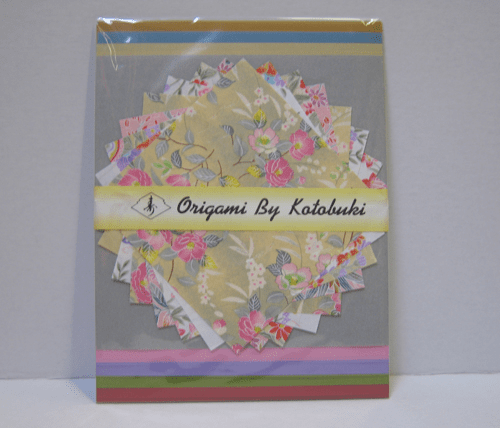 "Assorted Floral and Solid Color  Origami Paper 6"" Sq, & 8-1/4"" Sq. 24 Sheets"
