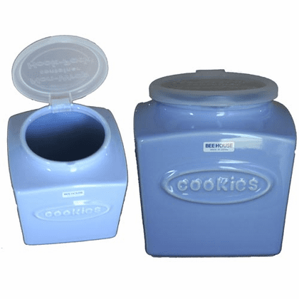 Bee House Blueberry Milk Color Cookie Container, 76 oz.