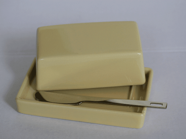 Bee House Butter Dish with Stainless Steel Butter Knife