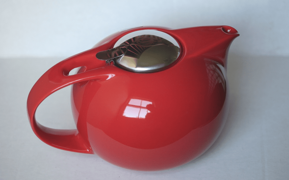 Bee House Saturn Teapot <br>Tomato Color 48 oz.
