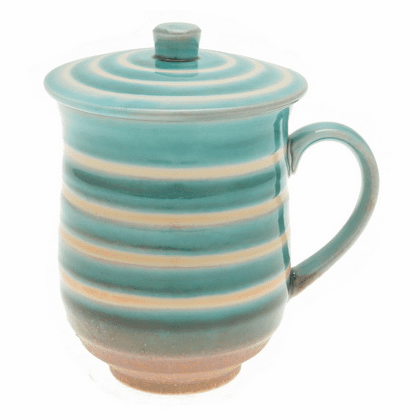Berry Rainbow Ceramic Mug <br>with Lid, 12 oz.