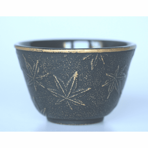 Black and Gold Maple Leafe Cast Iron Cup