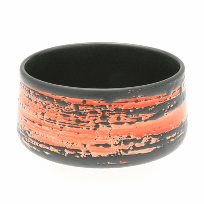 Black and Red Zen Matcha Chawan <br> Tea Bowl