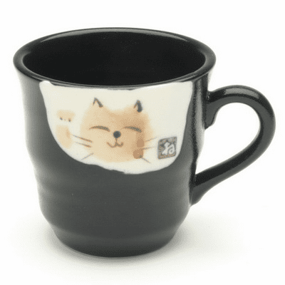 Black Beckoning Kitty Mug, 6 oz.