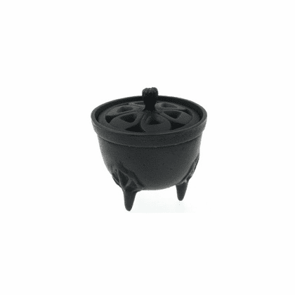 Black Cast Iron Incense Burner