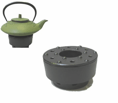 Black Cast Iron Teapot Warmer<br> Made by Iwachu 4-1/4""