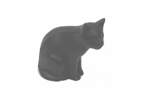 Black Cat Cast Iron Paper Weight