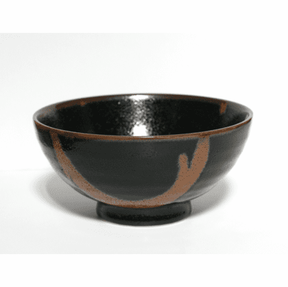 Black Citrus Rust Flow Deep Bowl, <br>7-3/4""