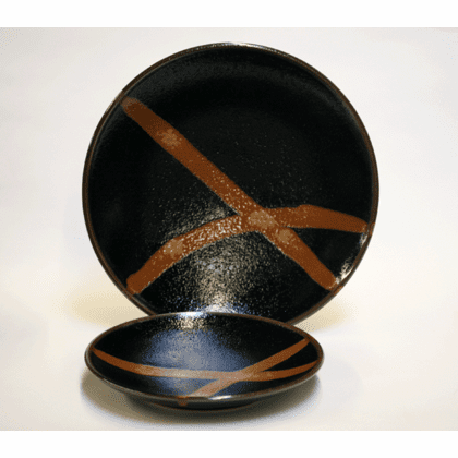 "Black Citrus Rust Flow Plates, 7-3/4"" or 10-1/4"""