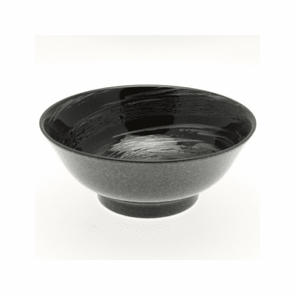Black Cosmic Swirls Bowl, 8-1/2""