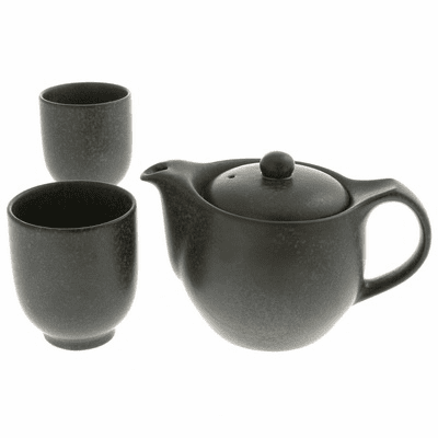Black Cosmos Ceramic Tea Set