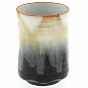 Black Cream Foaming Flow Sushi Tea Cup, 12 oz.