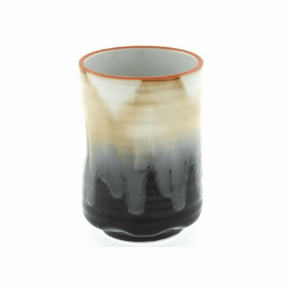 Black Cream Foaming Flow <br> Sushi Tea Cup, 12 oz.