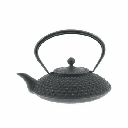 Black Hailstone Hobnail Pattern Cast Iron Teapot 36 oz. by Iwachu