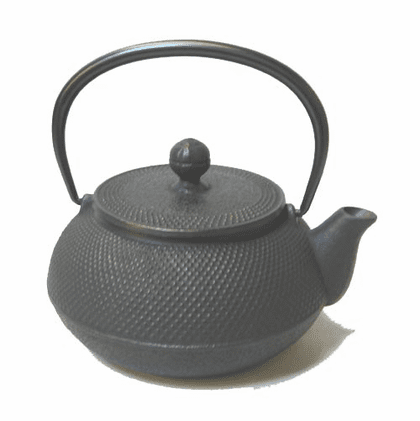 Black Hobnail Cast Iron Teapot <br>by Iwachu 20 oz.