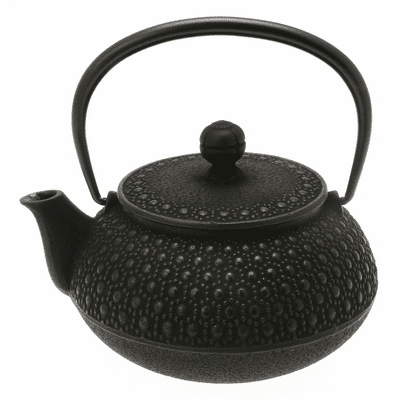 Black Honeycomb Cast Iron Teapot, <br>20 oz.