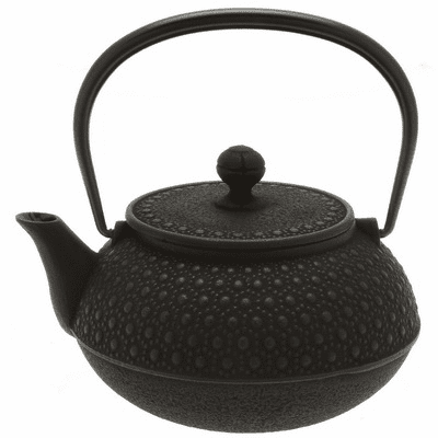 Black Honeycomb Cast<br> Iron Teapot, 30 oz. Made by Iwachu