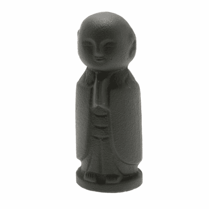 Black Jizo Cast Iron Statue Paper  <br>Weight by Iwachu
